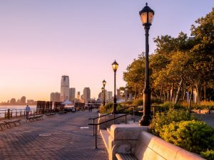 Photo of Sunset at Battery Park in New York City