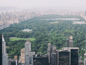 A photo of Central Park New York City from Above.