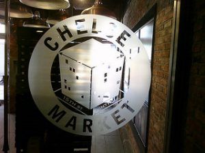 A photo of the entrence to Chelsea Market, NYC.