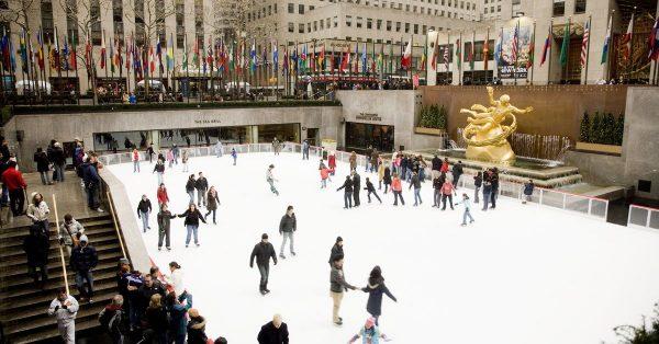 Christmas Ice Skating.On The 6th Day Of Christmas Ice Skating At Rockefeller