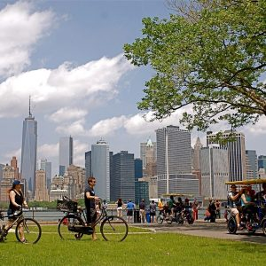 Biking on Governors Island NYC