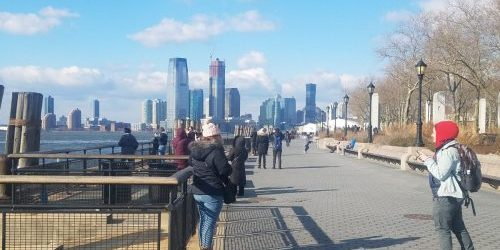 Battery Park with NYC Skyline