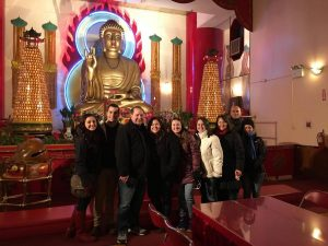 Mahayana Buddhist temple tour group